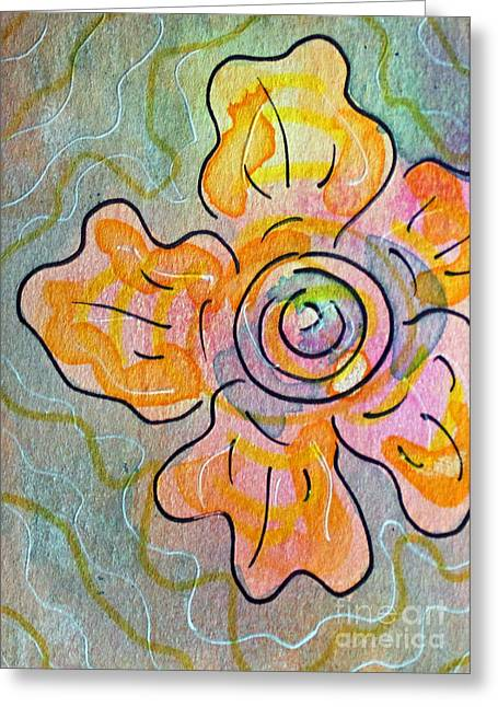 Passionflower Mixed Media Greeting Cards - Passionflower 10 Greeting Card by Lauri Jean Crowe