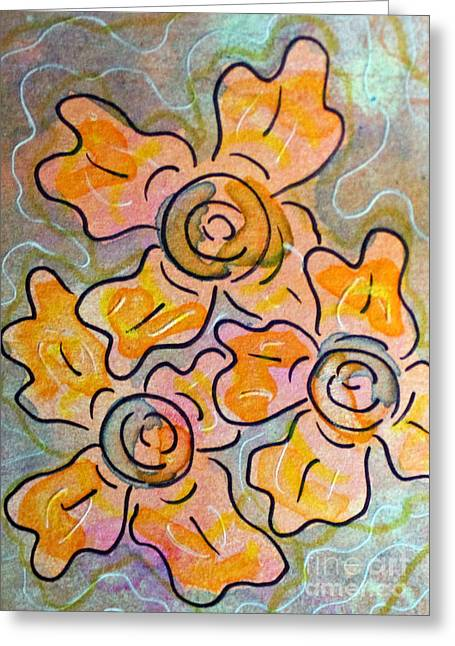 Passionflower Mixed Media Greeting Cards - Passionflower 6 Greeting Card by Lauri Jean Crowe