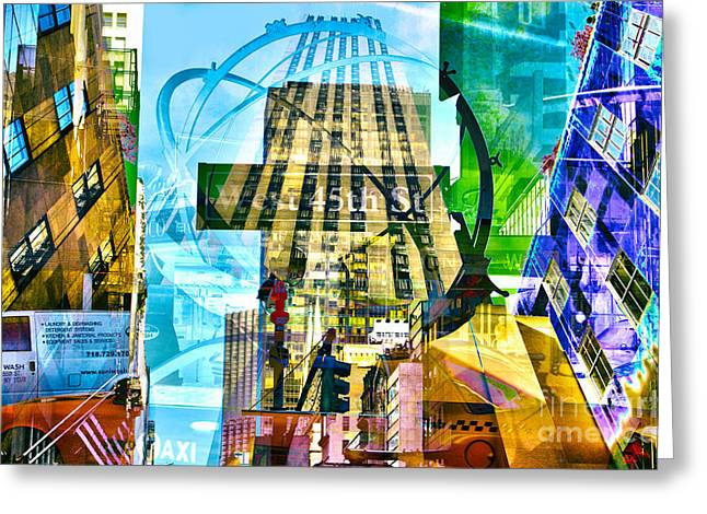 Skyline Greeting Cards - Passion NYC 5th Avenue Greeting Card by Sabine Jacobs