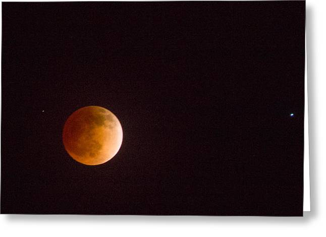 On His Holidays Greeting Cards - Passover Blood Moon II Greeting Card by Carolina Liechtenstein
