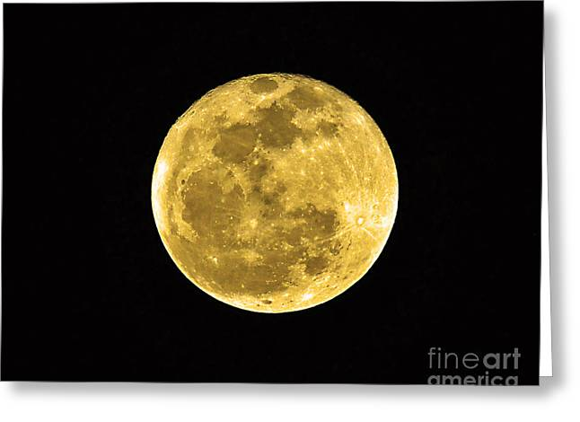 Man In The Moon Greeting Cards - Passover Full Moon Greeting Card by Al Powell Photography USA