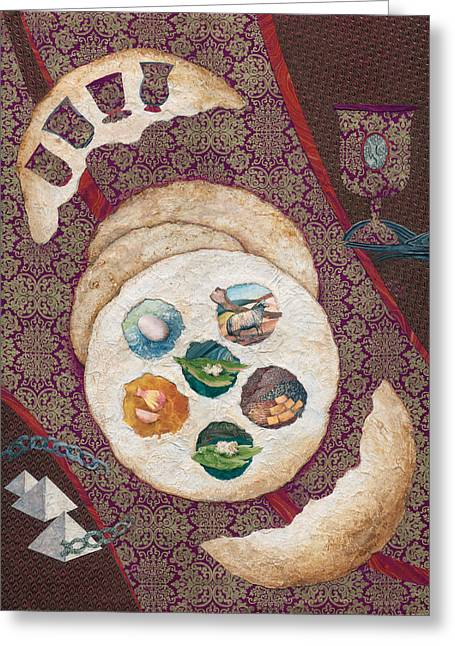 Pesach Greeting Cards - Passover Greeting Card by Michoel Muchnik