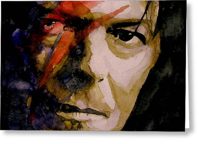 Rock Paintings Greeting Cards - Past and Present Greeting Card by Paul Lovering