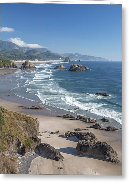 Haystack Framed Prints Greeting Cards - Past Canon Beach Greeting Card by Jon Glaser