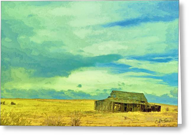 Field. Cloud Digital Art Greeting Cards - Past Greeting Card by Dale Stillman
