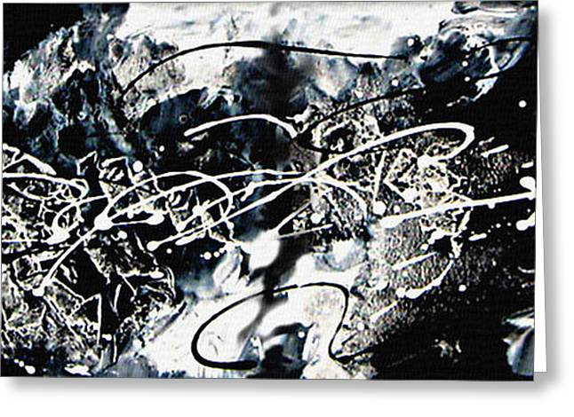 Abstract Expression Greeting Cards - Past Greeting Card by Kume Bryant