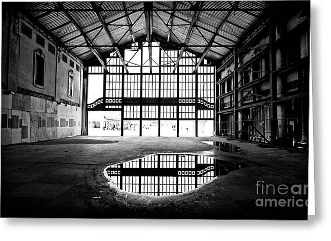 Asbury Park Casino Greeting Cards - Past Reflections Greeting Card by John Rizzuto