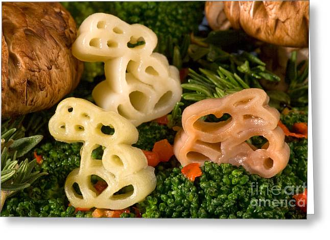 Commercial Photography Greeting Cards - Pasta Bunnies Greeting Card by Iris Richardson