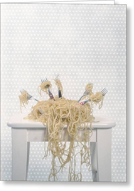 Italian Food Greeting Cards - Pasta For Five Greeting Card by Joana Kruse