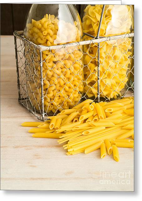 Italian Restaurant Greeting Cards - Pasta Shapes Still Life Greeting Card by Edward Fielding