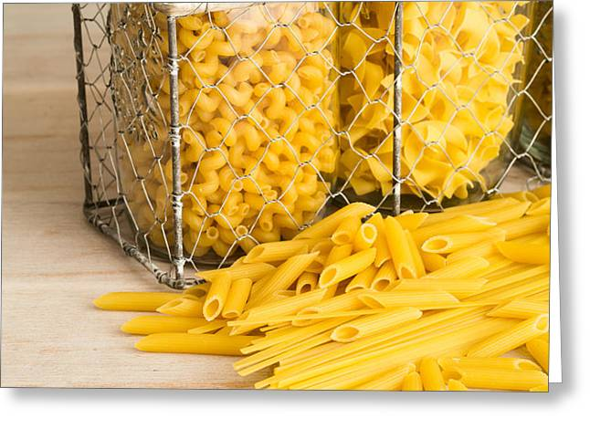 Pasta Shapes Still Life Greeting Card by Edward Fielding