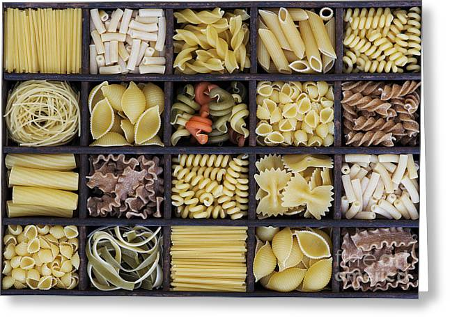 Wholewheat Greeting Cards - Pasta Greeting Card by Tim Gainey
