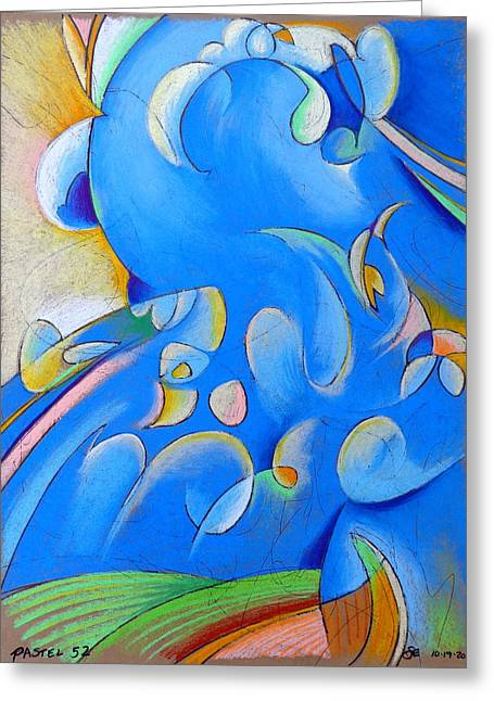 French-ultramarine Blue Greeting Cards - Pastel 52 - Storm Greeting Card by Steve Emery
