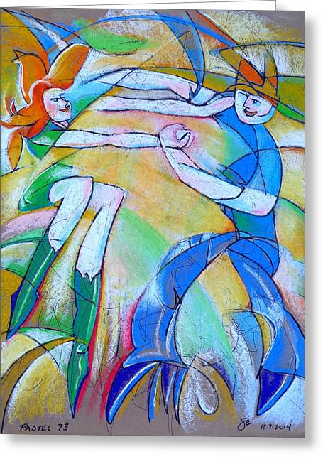Lindy Greeting Cards - Pastel 73 - Dance Greeting Card by Steve Emery