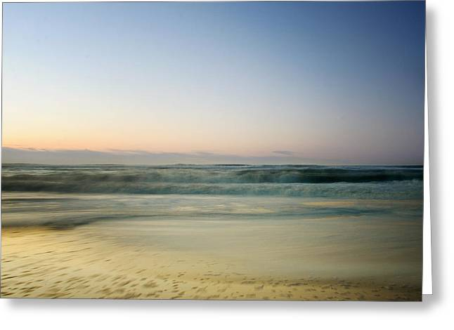 York Beach Greeting Cards - Pastel Beach  Greeting Card by Vicki Jauron