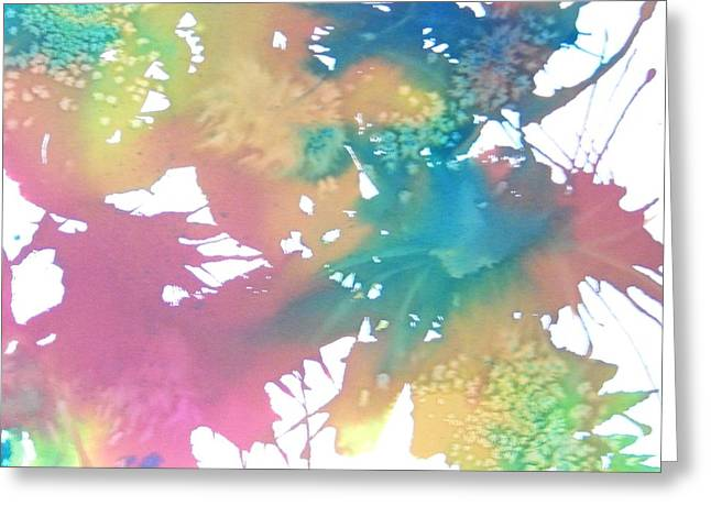 Pastel Botanical Abstract Square Greeting Card by Ellen Levinson