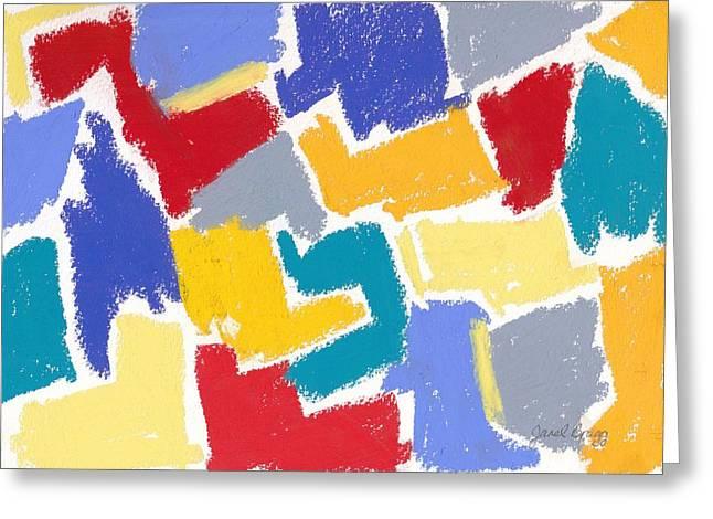 Janel Bragg Pastels Greeting Cards - Pastel Color Abstract Greeting Card by Janel Bragg