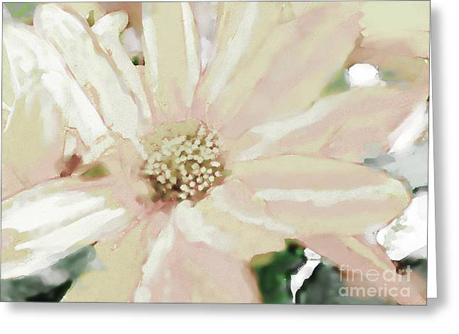 Debbie Portwood Greeting Cards - Pastel Daisy Photoart Greeting Card by Debbie Portwood