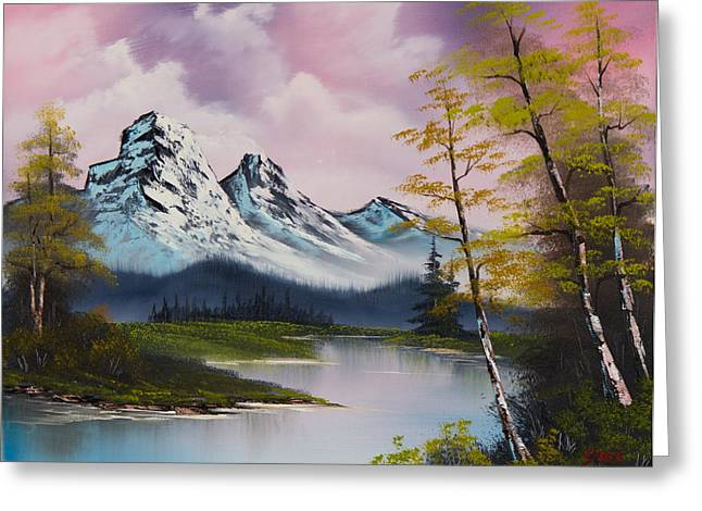 Bob Ross Paintings Greeting Cards - Pastel Fall Greeting Card by C Steele