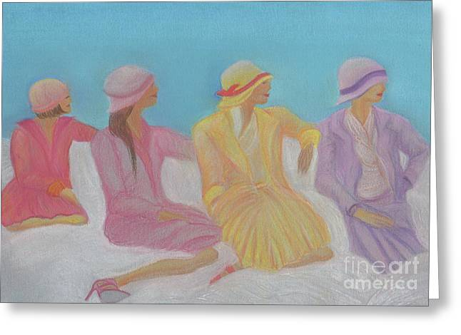 Cloth Pastels Greeting Cards - Pastel Hats by jrr Greeting Card by First Star Art