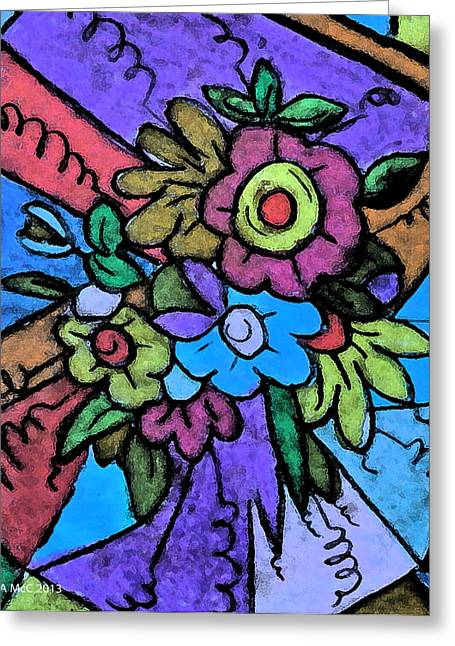 Stained Glass Pastels Greeting Cards - Pastel Joy Greeting Card by Ang Q