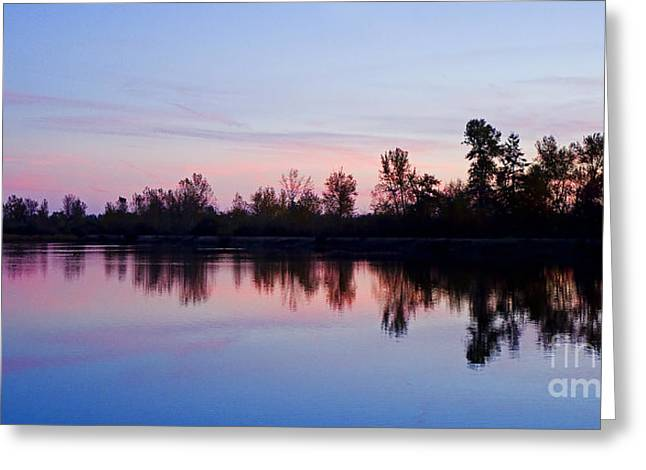 Pacificnorthwest Greeting Cards - Pastel Landscape Greeting Card by Nick  Boren