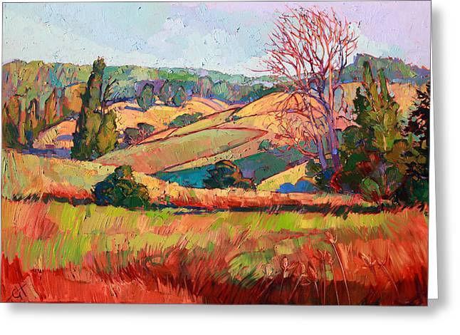 Paintng Greeting Cards - Pastel Lights Greeting Card by Erin Hanson
