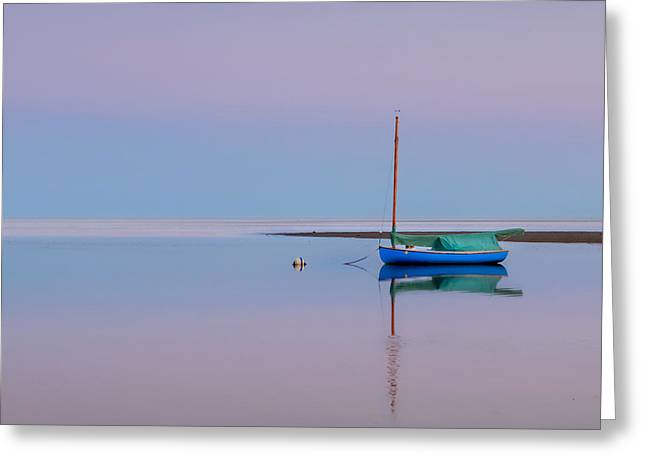 New England Coast Greeting Cards - Pastel Morning Square Greeting Card by Bill  Wakeley