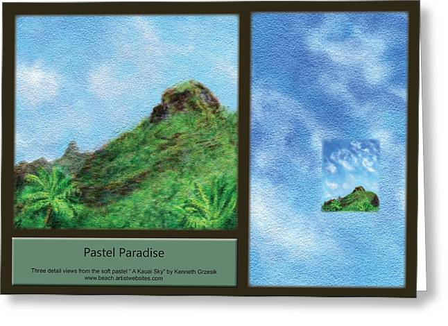 Kauai Greeting Cards - Pastel Paradise Greeting Card by Kenneth Grzesik