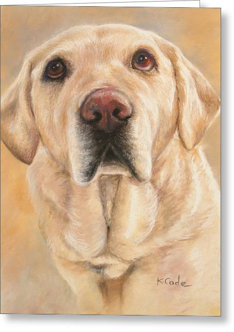 Commissions Pastels Greeting Cards - Pastel Portrait Greeting Card by Karen Cade