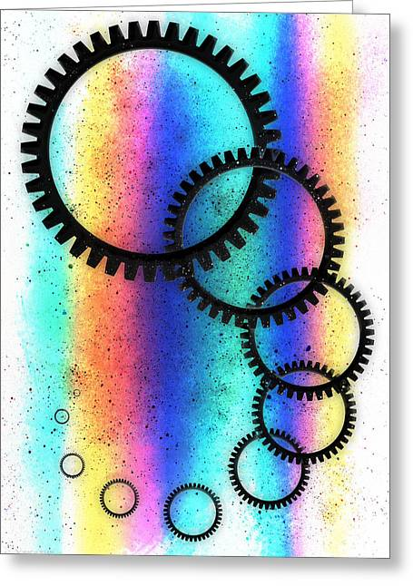 Intergalactic Space Greeting Cards - Pastel Rainbow Space Highway Greeting Card by Shawna  Rowe