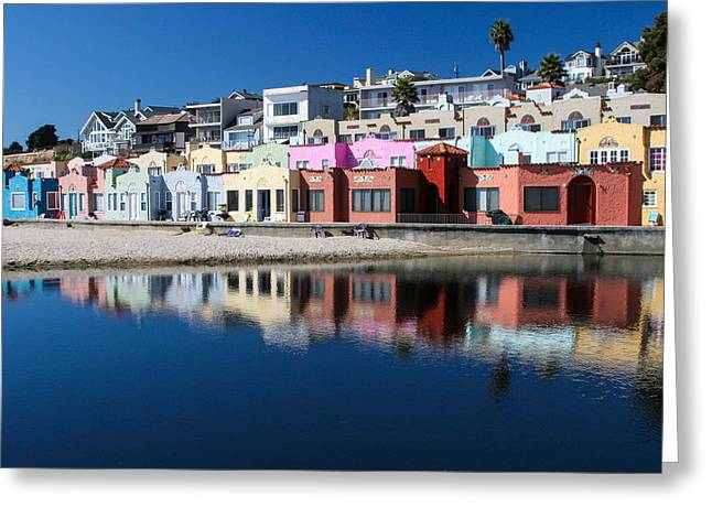 Santa Cruz Wharf Greeting Cards - Pastel Greeting Card by Ron Metz