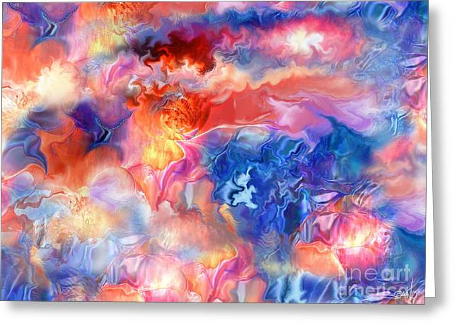Spano Greeting Cards - Pastel Storm by Spano  Greeting Card by Michael Spano