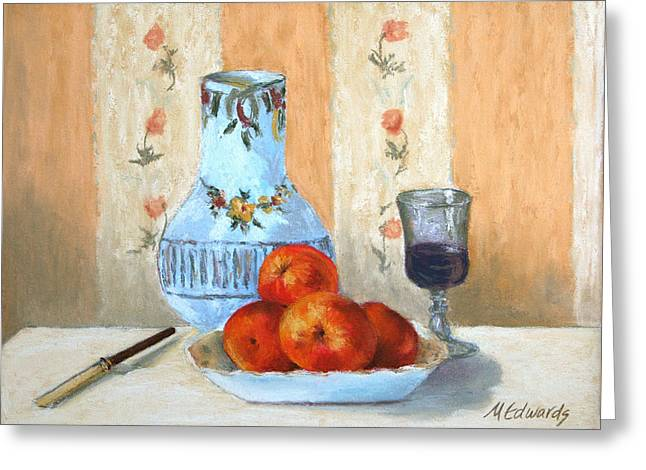 Old Pitcher Pastels Greeting Cards - Pastel Study Greeting Card by Marna Edwards Flavell