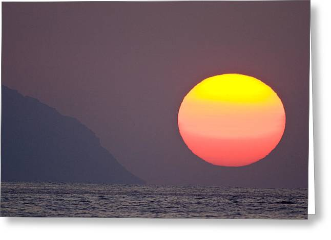 Sunset Greeting Cards Photographs Greeting Cards - Pastel Sun Greeting Card by Sean Davey