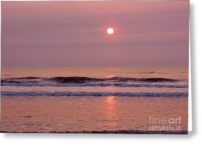 Reflections In River Digital Art Greeting Cards - Pastel  Pink Sunrise Greeting Card by D Hackett
