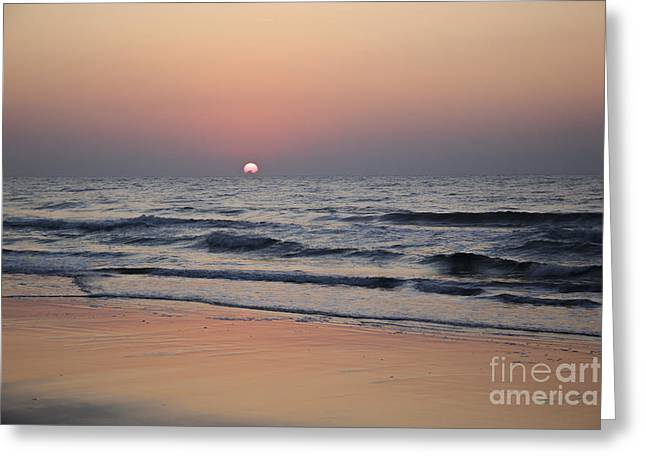 Atlantic Beaches Greeting Cards - Pastel Sunrise Greeting Card by Teresa Mucha