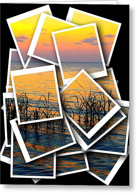 Stacks Framed Prints Greeting Cards - Pastel Sunset Photo Stack 1 Greeting Card by Sheri McLeroy