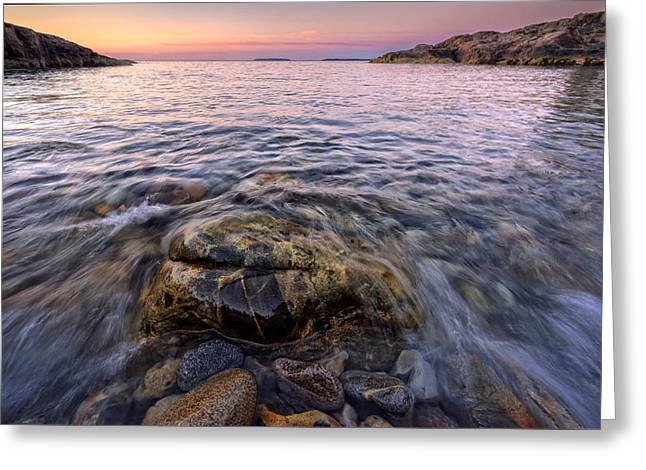 Maine Beach Greeting Cards - Pastel Tide Greeting Card by Rick Berk