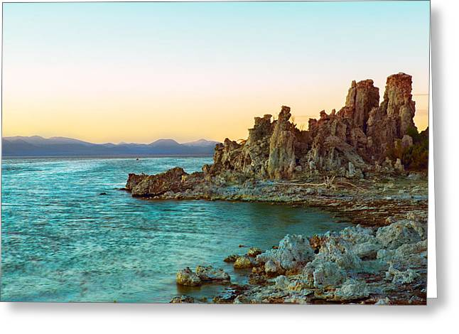 White Photographs Greeting Cards - Pastel Tufas Greeting Card by Bryant Coffey