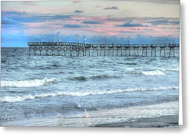 Surfing. Fishing Greeting Cards - Tranquility Greeting Card by Don Mennig