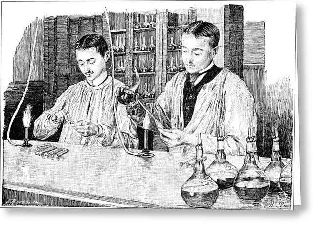 Pasteur Institute Vaccine Research, 1890 Greeting Card by Science Photo Library