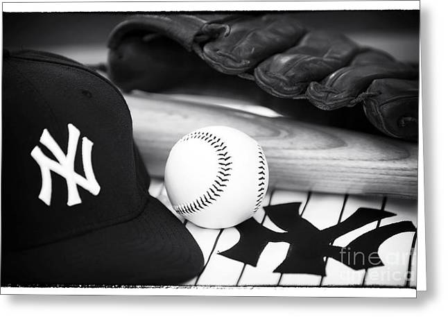 Baseball Cap Greeting Cards - Pastime Essentials Greeting Card by John Rizzuto