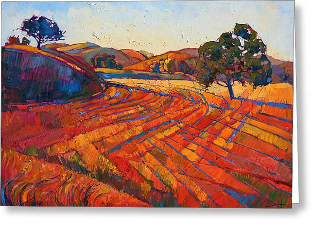 Paso Robles Greeting Cards - Pastoral Light Greeting Card by Erin Hanson