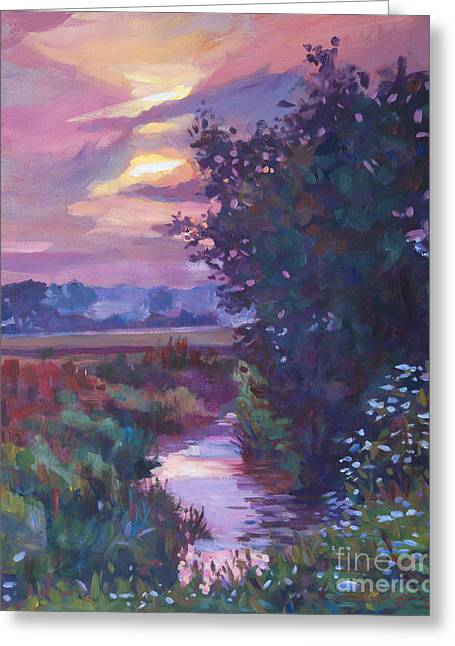 Creek Greeting Cards - Pastoral Morning Greeting Card by David Lloyd Glover
