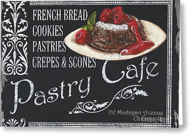 Pastries Greeting Cards - Pastry Cafe Greeting Card by Debbie DeWitt