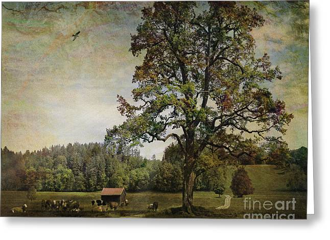 Constable Greeting Cards - Pasture Revisited Greeting Card by Edmund Nagele