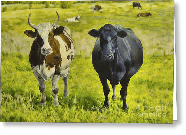 Harmonious Paintings Greeting Cards - Pasture Greeting Card by Veikko Suikkanen