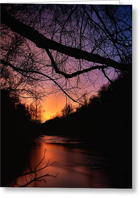 Catonsville Greeting Cards - Patapsco Dusk Greeting Card by Geoffrey Baker