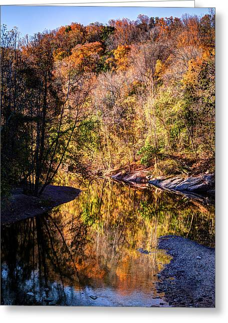 Catonsville Greeting Cards - Patapsco Fall Glory Greeting Card by Geoffrey Baker